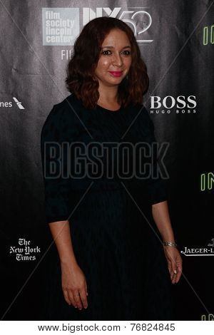 NEW YORK-OCT 4: Actress Maya Rudolph attends the 'Inherent Vice' Centerpiece Gala Presentation & World Premiere at the New York Film Festival at Alice Tully Hall on October 4, 2014 in New York City.