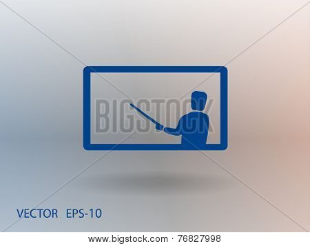Flat  icon of presentation
