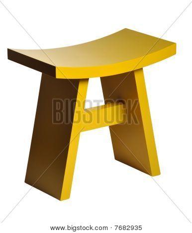 Yellow Footstool