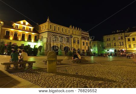 Tarnow - marketplace by night