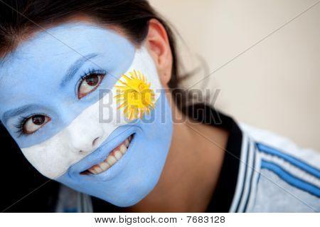 argentinischer Flagge portrait