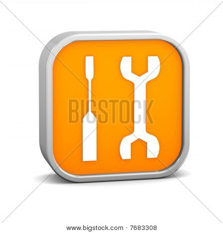 Orange Tools Sign