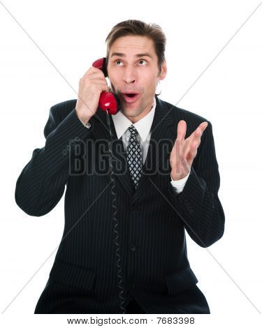 The Person Speaks By The Phone