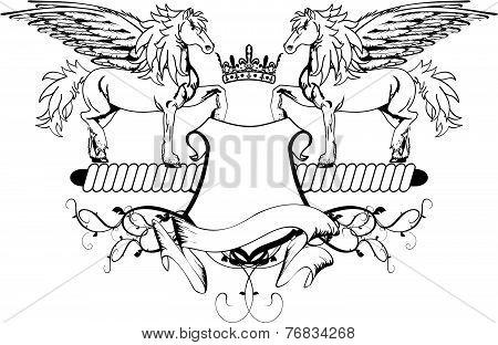 heraldic pegasus coat of arms crest shield5
