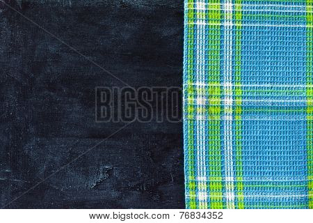 tablecloth textile on blackboard background