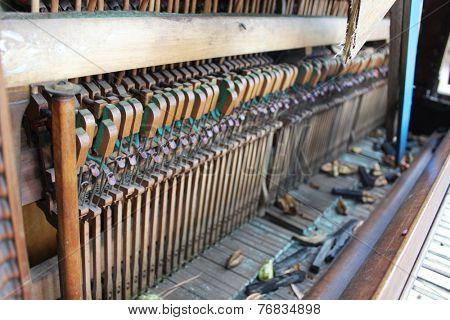 Vintage piano parts