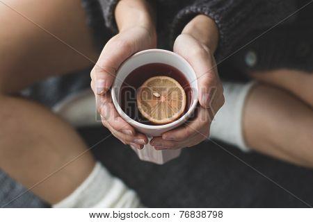 hot tea in bed