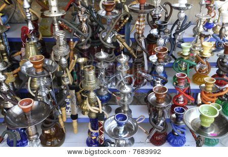 colorful waterpipes