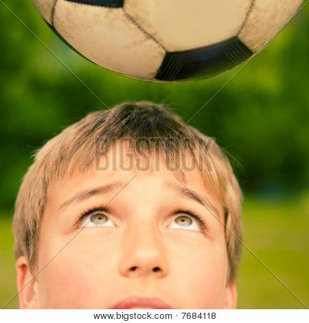 boy soccer ball