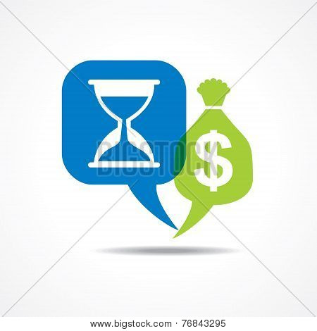 Time is money concept stock vector