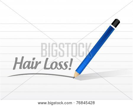 Hair Loss Message Illustration Design