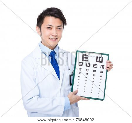Eye doctor with eyesight test
