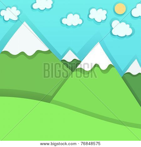Mountain Peaks, vector illustration