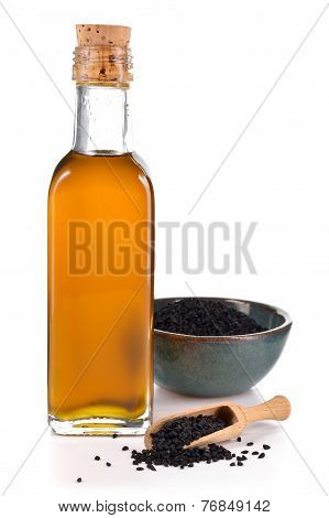 Nigella Sativa Oil Isolated.