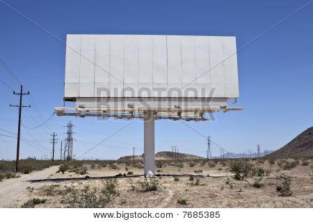 Blank Desert Billboard