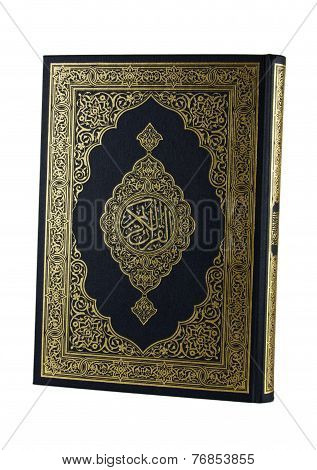 THE HOLY QURAN ISOLATED ON WHITE BACKGROUND.