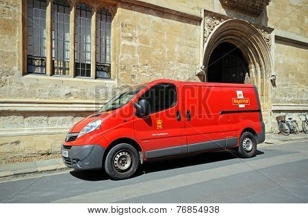 Royal mail van, Oxford.