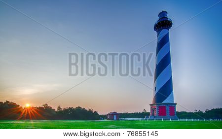 Cape Hatteras Lighthouse At Its New Location Near The Town Of Buxton On The Outer Banks Of North Car