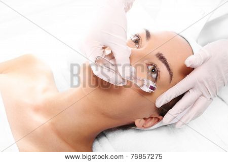 Beauty salon, microdermabrasion