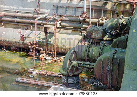 Water, Rusted Pipes, Valves