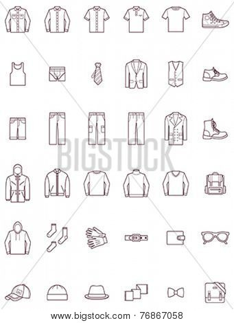 Set of the men clothes