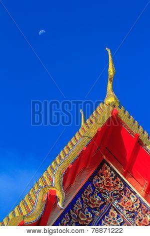 Gable apex on thai temple roof