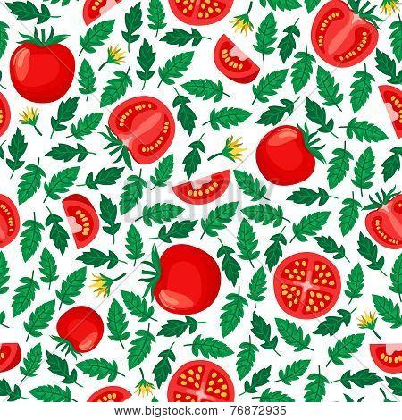 tomatoes seamless pattern