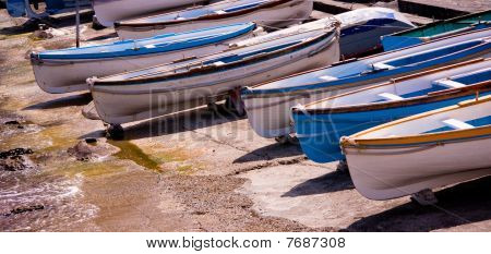Boats In Capry, Italy
