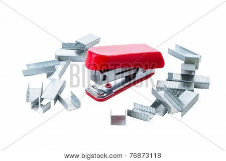 Red Mini Stapler