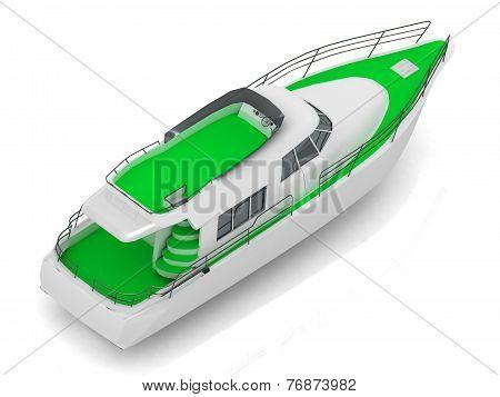 Premium Motorized Pleasure Green Boat