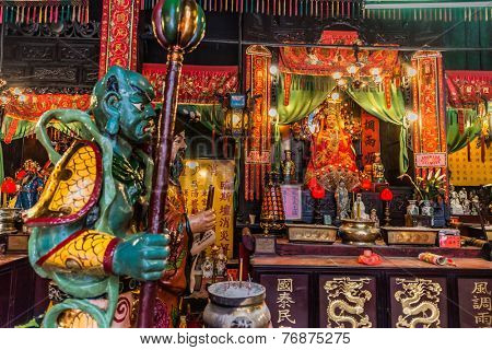 shrine Tin Hau Temple Tsim Sha Tsui Kowloon in Hong Kong