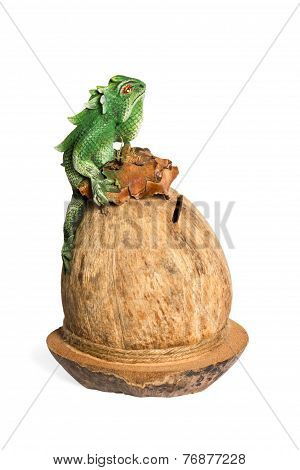 Souvenir Coconut Savings Box