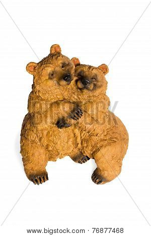 Statuette Of A Loving Couple Bears