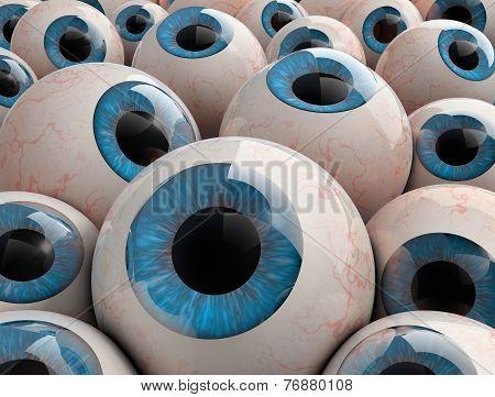 3D Render Eyeballs