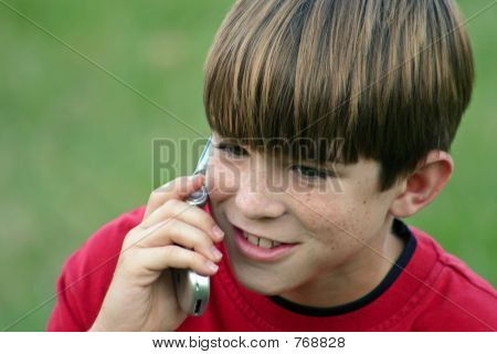 Boy on Cell