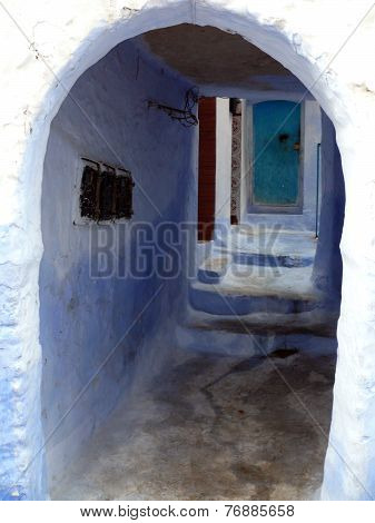 Light Blue Gate In Chefchaouen