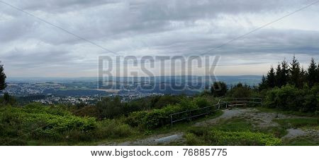 Landscape in the Erzgebirge in Germany
