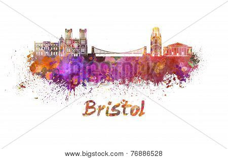 Bristol Skyline In Watercolor
