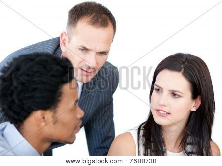 Portrait Of A Confident Businessteam Working Together