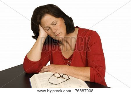 Woman Tired And Emotionally Stressed