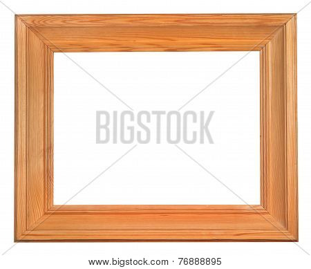 Simple Wide Wooden Frame With Cut Out Canvas