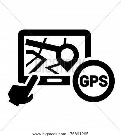 black gps icon