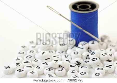 Letter Beads In Close Up