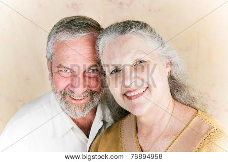Portrait of beautiful senior couple in their sixties, still deeply in love.
