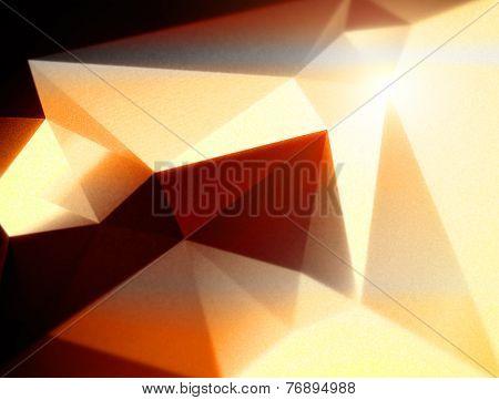 Orange Geometric Polygonal Triangular Background