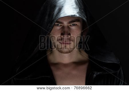 Image of the young man in hood
