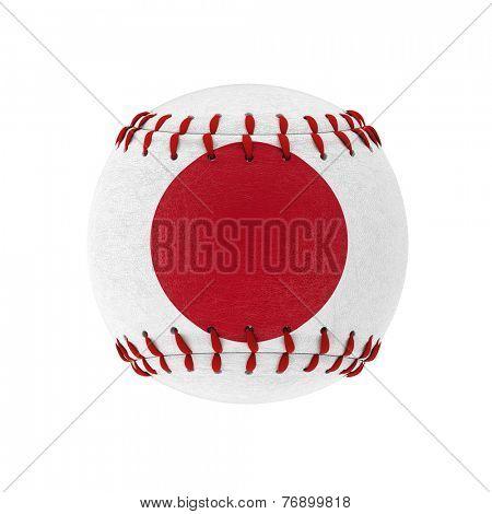 3d image of japanes baseball ball