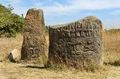 picture of ethiopia  - Mysterious megalithic Tiya stone pillars - JPG