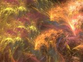 foto of psychodelic  - Abstract shapes made of fractal textures - JPG