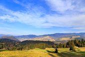 picture of pieniny  - autumn mountain landscape - JPG